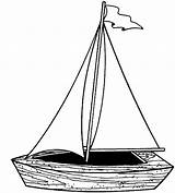 Boat Pages Sailing Coloring Fishing Little Play sketch template