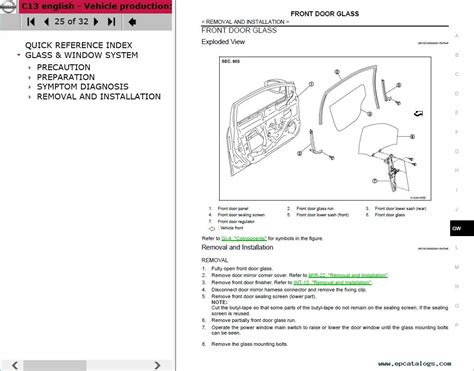 auto repair manual free download 2012 nissan nv3500 lane departure warning download nissan tiida c13r model service manual 2015my