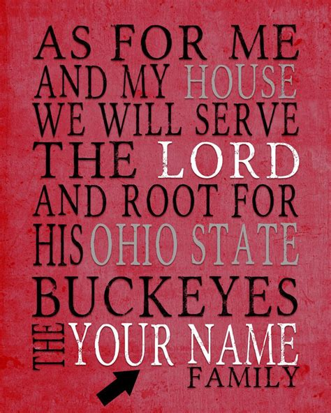 M2 Note Ohio State Buckeyes ohio state buckeyes customized print quot as for me