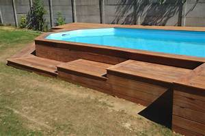 terrasse bois autour d une piscine hors sol With terrasse en bois autour d une piscine hors sol