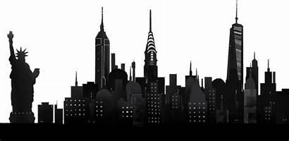 Skyline York Night Overlay Transparent Ny Pluspng