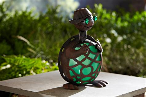 unique turtle solar statue outdoor garden decor lawn yard