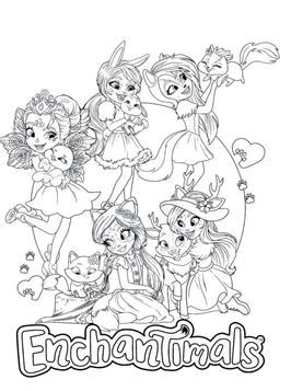 kids  funcom  coloring pages  enchantimals