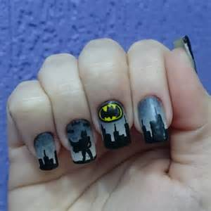 Nail art black and grey eye candy nails training silver grey and view images batman nail art designs ideas design trends prinsesfo Image collections