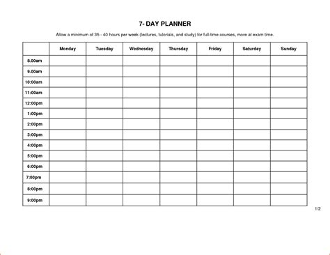 day planner template bookletemplateorg