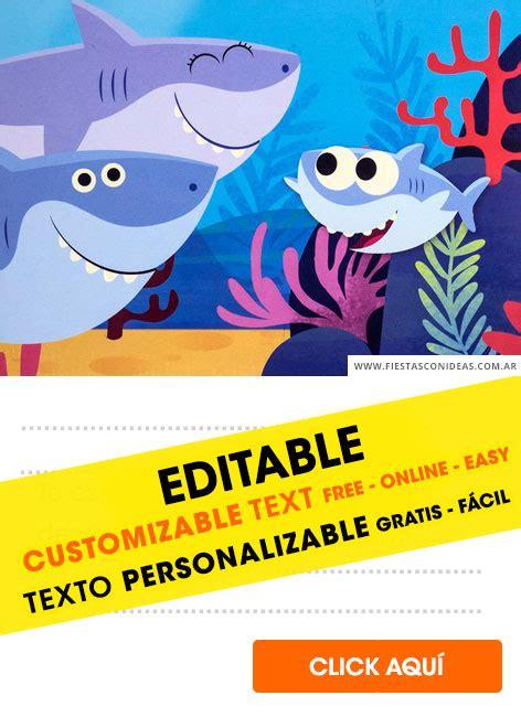 baby shark pinkfong birthday invitations