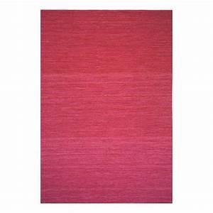 tapis moderne laine rouge uni flatweave ligne pure 60 x 120 With tapis laine moderne