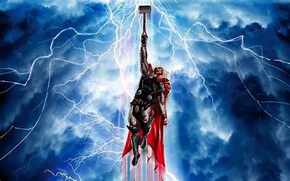 Thor Hammer Wallpapers Flying