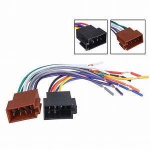 2pcs Female Car Iso Radio Wire Wiring Harness Adapter