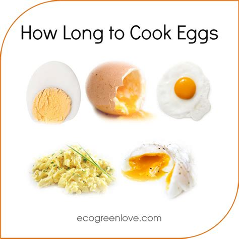 how to make eggs ecogreenlove how long to cook your eggs infographic how do