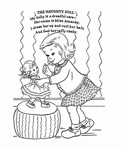Coloring Nursery Pages Rhymes Rhyme Naughty Adult
