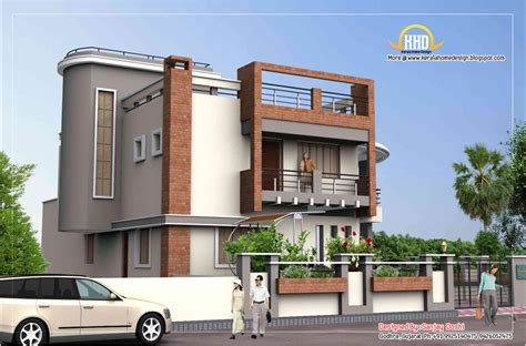 Duplex House Plan And Elevation-sq. Ft.-kerala