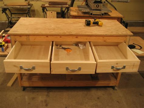 workbench plans drawers    woodworking cast
