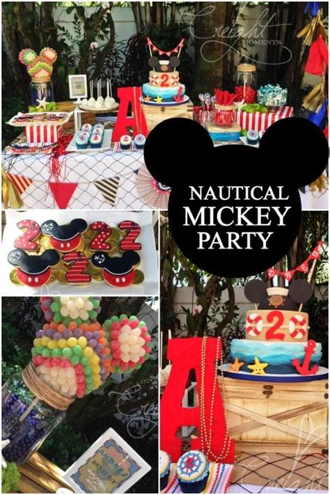 nautical mickey mouse boys birthday party spaceships