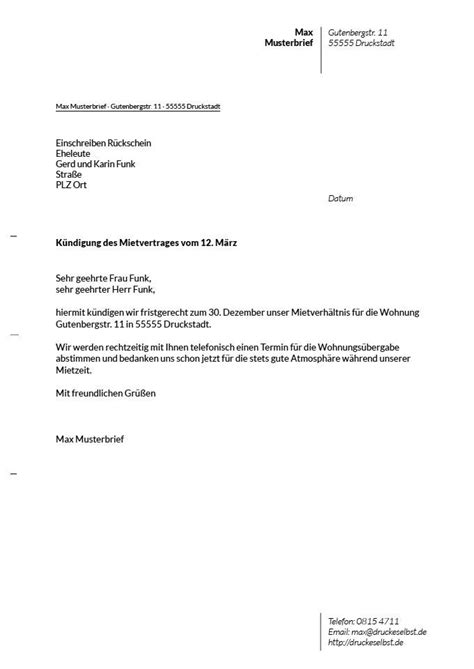 Mietvertrag Nachmieter Muster by K 252 Ndigung Mietwohnung Vorlage Nachmieter K 252 Ndigung