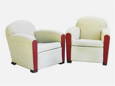 pair deco club chairs armchairs ready for top