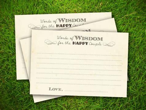 10 Free Bridal Advice Card Templates