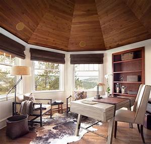 15 Motivational Rustic Home Office Designs That Will ...  Rustic