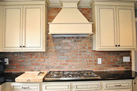 kitchen with brick backsplash brick backsplash kitchens cabinets wood 6498