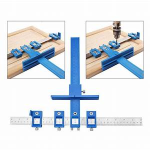 Wood Dowel Woodworking Jig Drill Guide Cabinet Handle