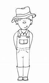 Farmer Coloring Printable Boy Sheet Farm Colouring Farmers Clipart Wife Grace Google sketch template