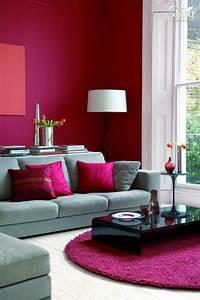 1001 idees deco originales pour le salon rose et gris With tapis berbere avec canapé d angle petite largeur