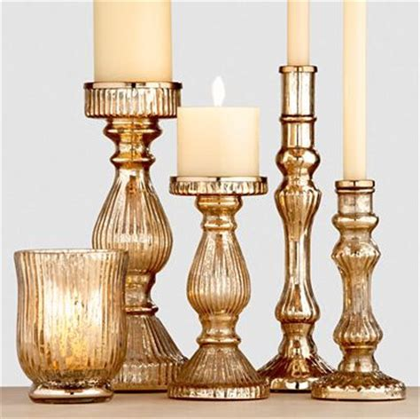 Gold Glass Candle Holders by Gold Mercury Glass Candleholders Traditional