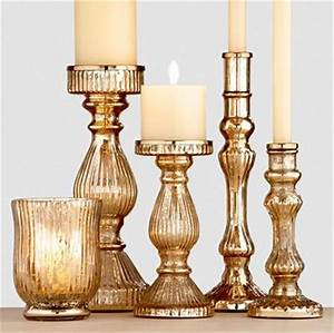 gold mercury glass candleholders traditional With kitchen colors with white cabinets with mercury glass taper candle holders