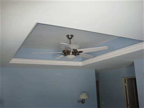 Adding Tray Ceiling by Tray Ceiling With Crown Molding And Ceiling Fan Home
