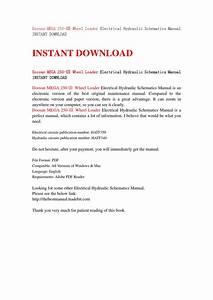 Doosan Mega 250  U2172 Wheel Loader Electrical Hydraulic Schematics Manual Instant Download By