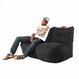 Twin, Couch, Sofa, -, Black, Sapphire