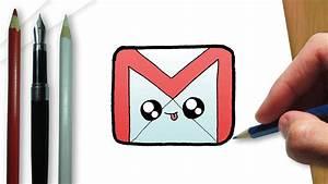 Como desenhar a logo do Gmail kawaii - YouTube