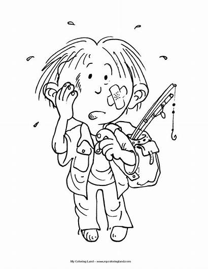 Coloring Pages Boy Boys Bruise Rascals Active