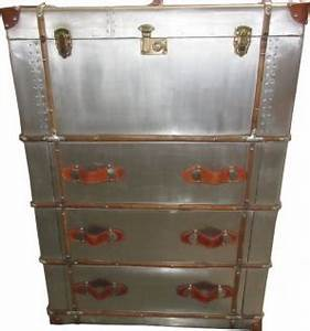 Schrank Vintage Look : casa padrino art deco vintage koffer schrank kommode aluminium leder vintage look flieger ~ Bigdaddyawards.com Haus und Dekorationen