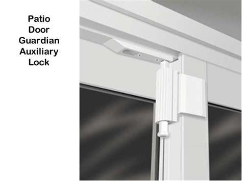 unavailable auxiliary lock sliding glass door door guardian