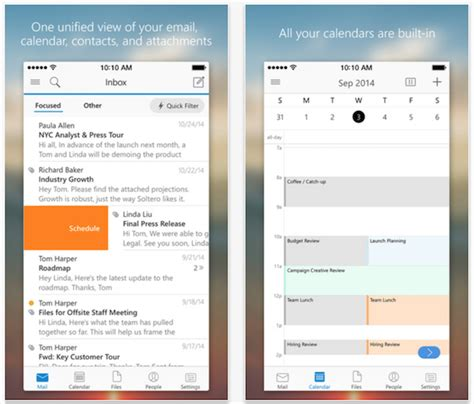 outlook app for iphone microsoft updates outlook for ios app for improved