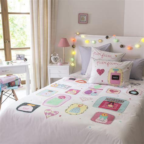 parure de lit fille parure de lit enfant couette et drap pour lit d enfant carr 233 blanc