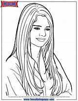 Coloring Selena Gomez Printable Portrait Cartoon Drawing Singer Famous Colouring Self Onlycoloringpages Swift Template Sheets Bieber Justin Popular Drawings Getdrawings sketch template