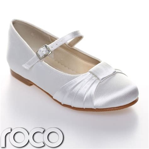 girls white communion shoes flower girl shoes bridesmaid