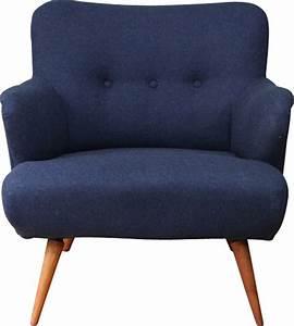 Fauteuil Bleu Marine : fauteuil vintage en teck bleu marine 1950 design market ~ Teatrodelosmanantiales.com Idées de Décoration