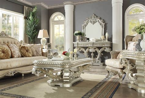 This functional coffee table was designed without ignoring the smart design. HD 8088 Homey Design Occasional Tables Victorian Style, European & Classic Design