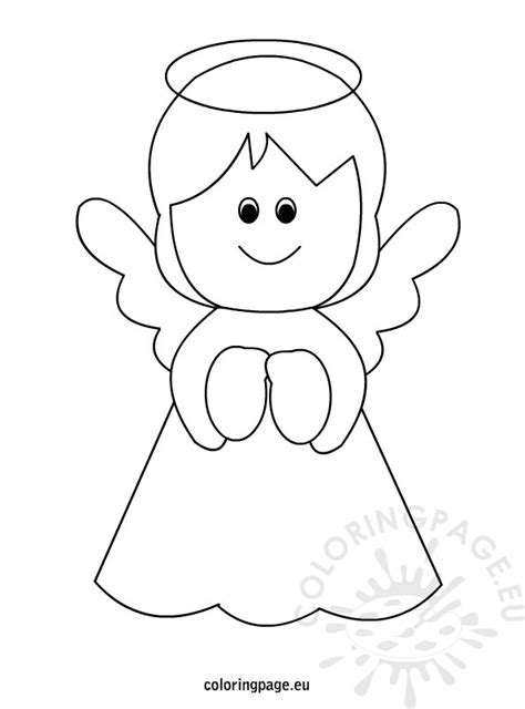 printable angel coloring page