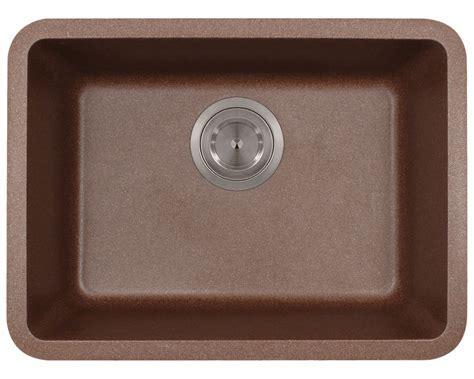 818 Brown Small Single Bowl TruGranite Sink