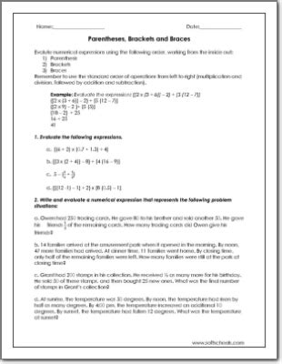 parentheses math worksheets 3rd grade value place