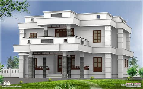 Flat Houses Designs Pictures by 5 Bhk Modern Flat Roof House Design Kerala Home Design