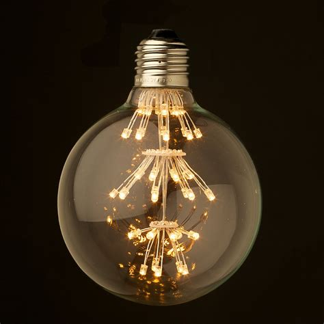 round led light bulbs dimmable 3 watt vintage led e27 clear 95mm round bulb