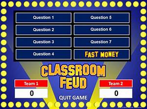 Family feud powerpoint template classroom game for Powerpoint game show templates family feud