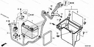 Honda Scooter 2014 Oem Parts Diagram For Battery