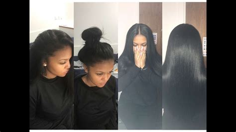Versatile Sew-in On Straight Hair