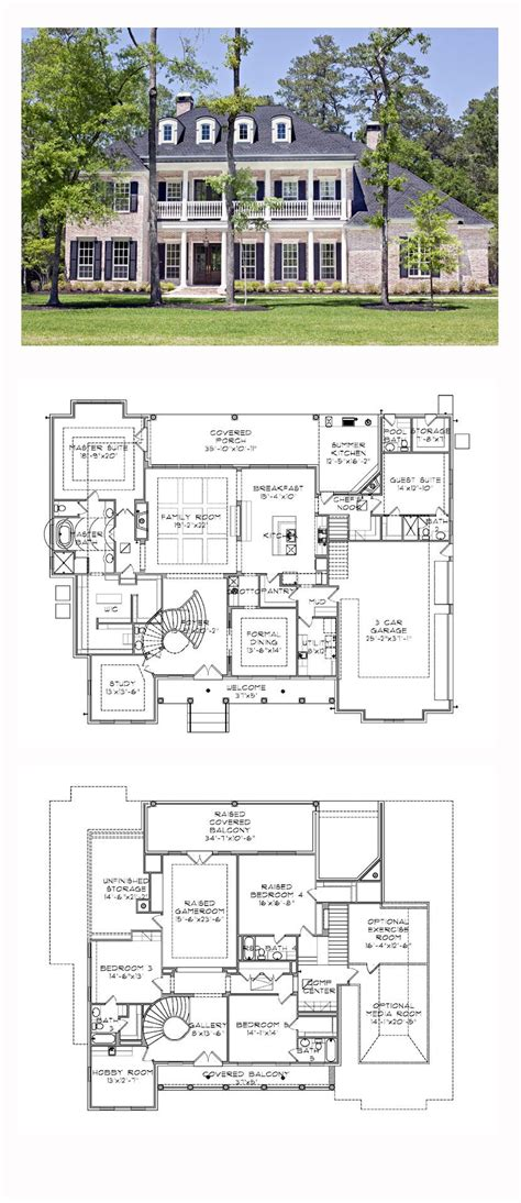 southern plantation house plans plantation house plan 77818 total living area 5120 sq